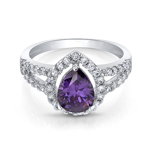 Heliotrope Halo Ring