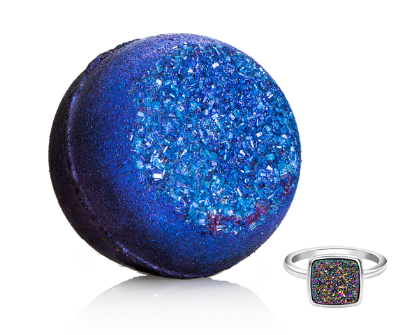 Rainbow Druzy Geode Ring Bath Bomb