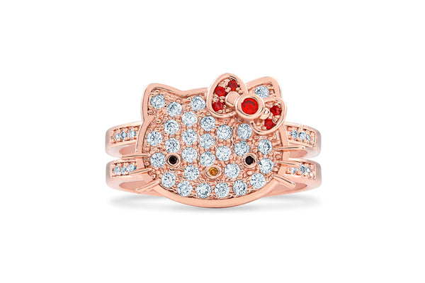 Double Band Hello Kitty Ring