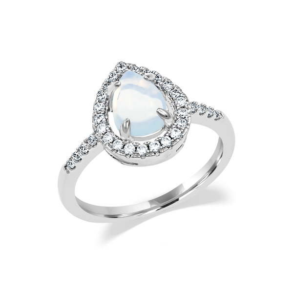 Pear Moonstone Ring