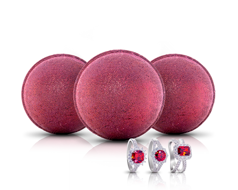 July Birthstone: Ruby Bath Bomb Trio