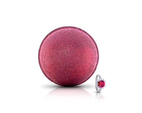 July Birthstone: Ruby Bath Bomb