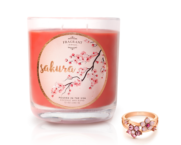 Cherry Blossom Ring Candle