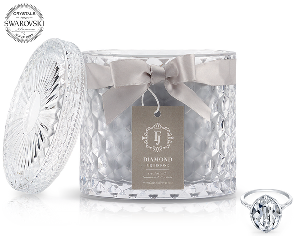 Diamond - April Birthstone Satin - Jewel Candle