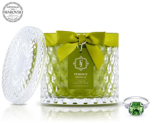 Peridot - August Birthstone Satin - Jewel Candle