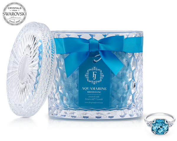 Aquamarine - March Birthstone Satin - Jewel Candle