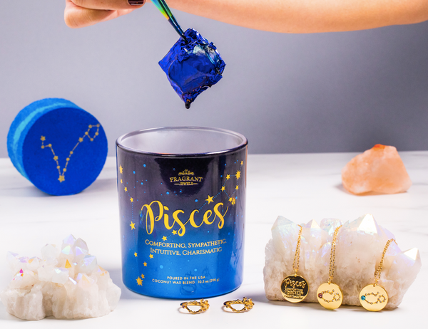 Pisces - Zodiac Collection - Jewel Candle