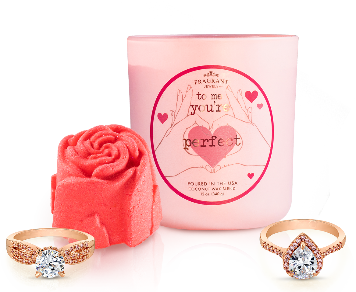 To Me You're Perfect - Candle and Bubble Bar Set