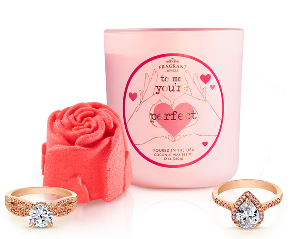 Rose Ring Bath Bomb and Ring Candle