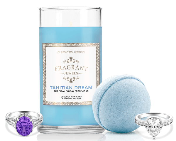 Tahitian Breeze Ring Bath Bomb and Ring Candle