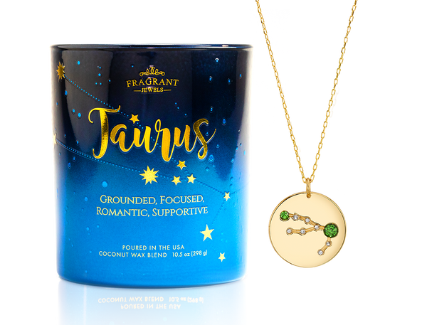 Taurus Necklace Candle