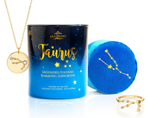 Taurus - Zodiac Collection - Candle and Bath Bomb Set