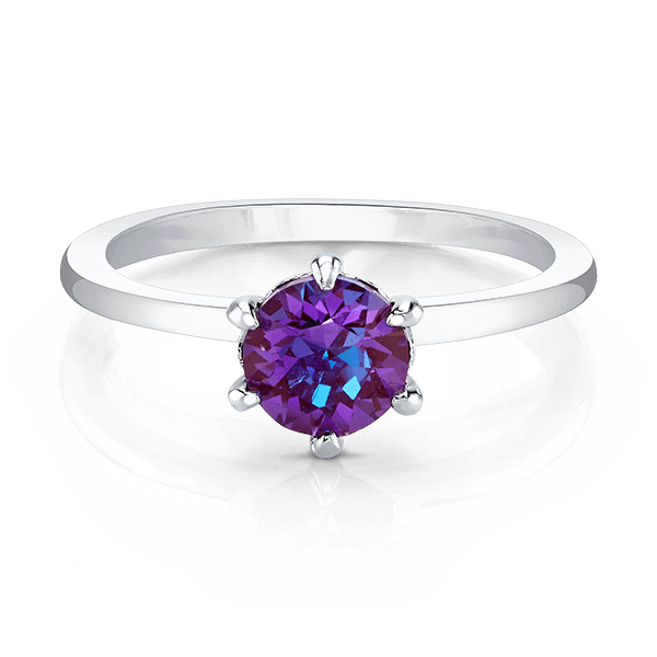 Silver Ring with Swarovski Crystal DeLite Center Stone