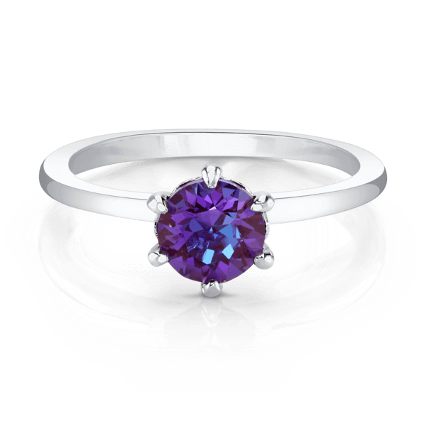 Silver Ring with Swarovski Crystal Center Stone