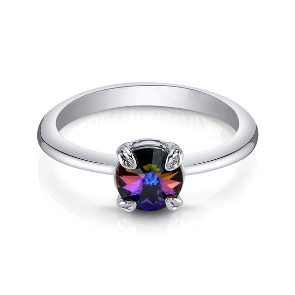 Flora Swarovski Solitaire Crystal Ring