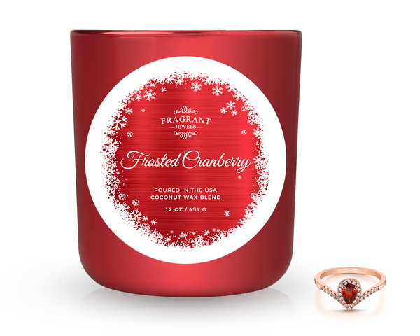 Frosted Cranberry - Jewel Candle