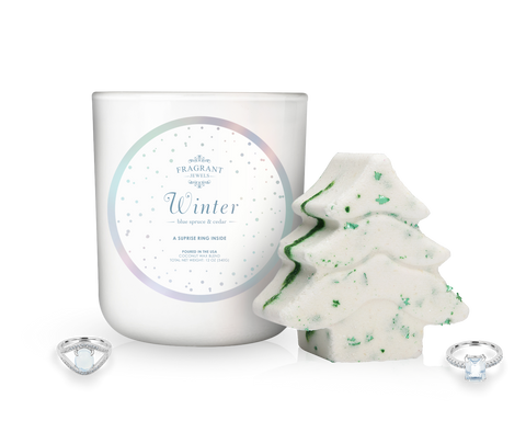 Winter - Candle and Bath Bomb Gift Set