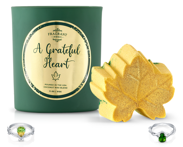 A Grateful Heart - Candle and Bath Bomb Set
