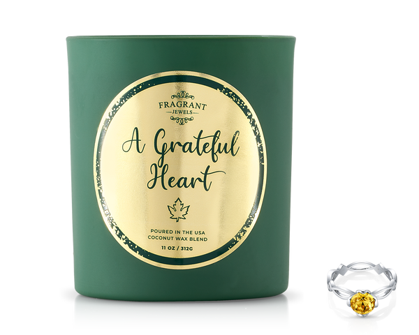A Grateful Heart - Jewel Candle