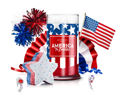 America - Candle & Bath Bomb Gift Set