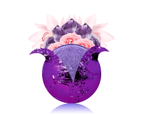 February Birthstone: Amethyst Bath Bomb