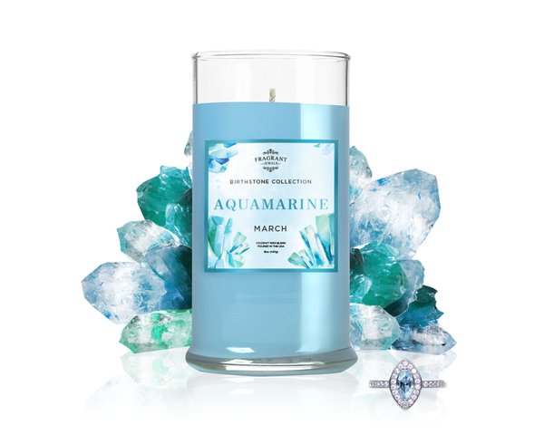 March Birthstone: Aquamarine Jewel Candle