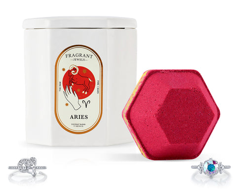 Aries, The Ram - Bath Bomb and Candle Set - Inner Circle