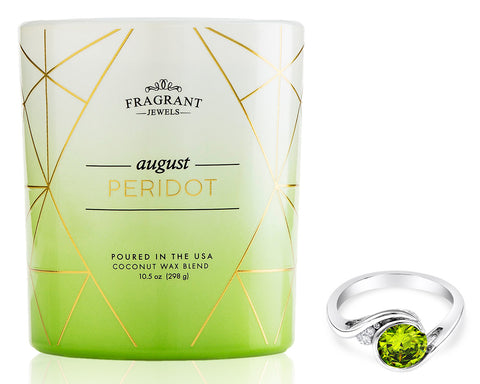 Peridot: August Birthstone - Jewel Candle