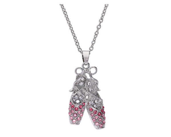 Ballerina Slippers Bedazzled Necklace