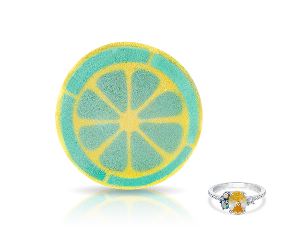 Lemon Bath Bomb with Ring