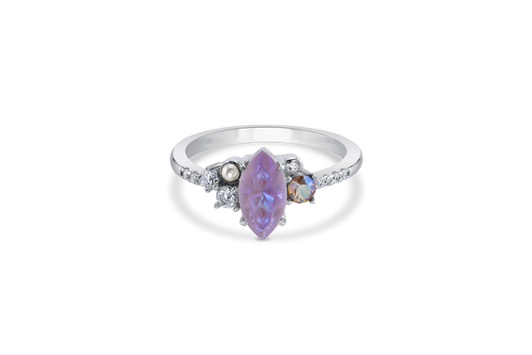 Lavender Crystal DeLite Stone in Silver Band