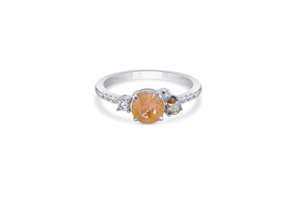Silver Ring with DeLite Crystal Center Stone