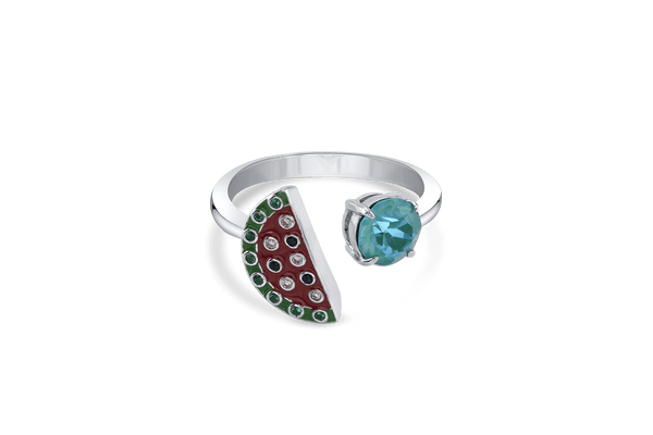 Watermelon Open Ring with DeLight Crystal