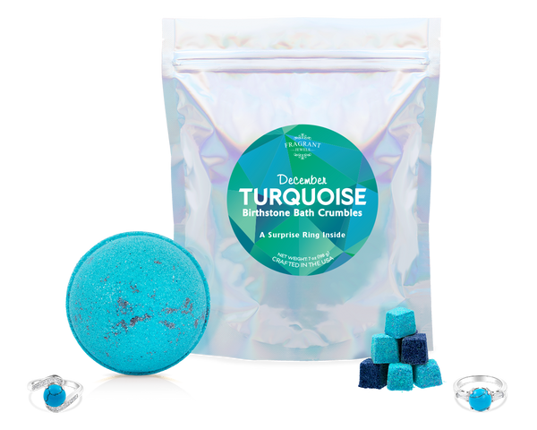 Turquoise: December Birthstone - Bath Bomb and Bath Crumbles Set