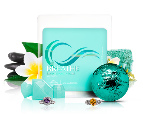 Breathe - Bath Bomb & Wax Tarts Gift Set