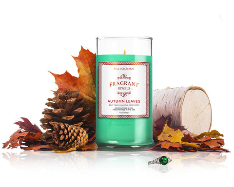 Autumn Leaves - Jewel Candle