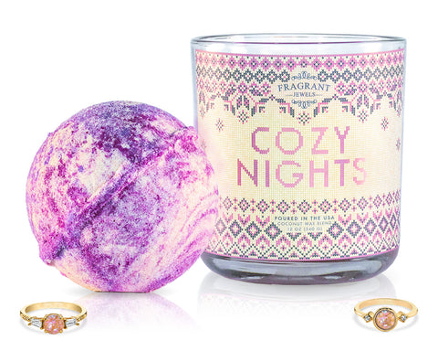 Cozy Nights - Candle and Bath Bomb Set