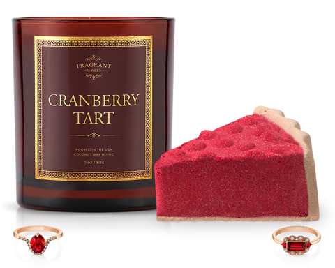 Cranberry Tart - Candle and Bath Bomb Set - Inner Circle