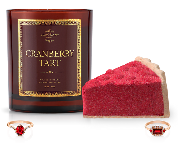 Cranberry Tart - Candle and Bath Bomb Set
