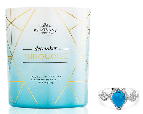 Turquoise: December Birthstone - Jewel Candle