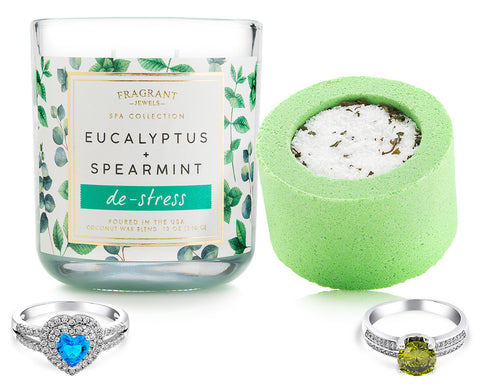 De-Stress - Candle and Bath Bomb Set