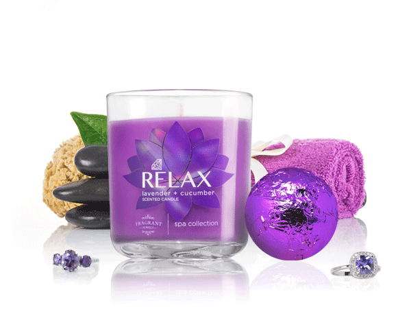 Relax - Candle & Bath Bomb Gift Set