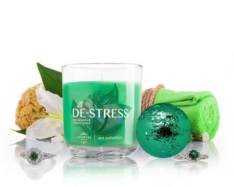 De-Stress - Candle and Bath Bomb Gift Set
