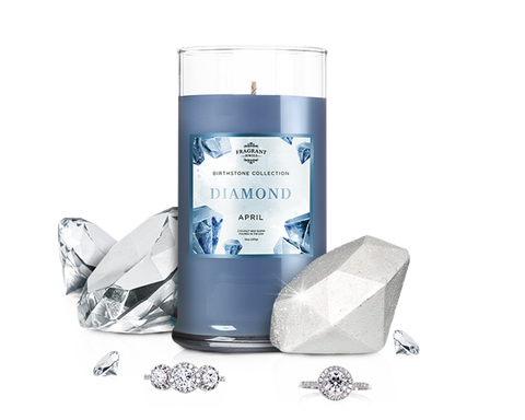 April Birthstone: Diamond Candle & Bath Bomb Gift Set