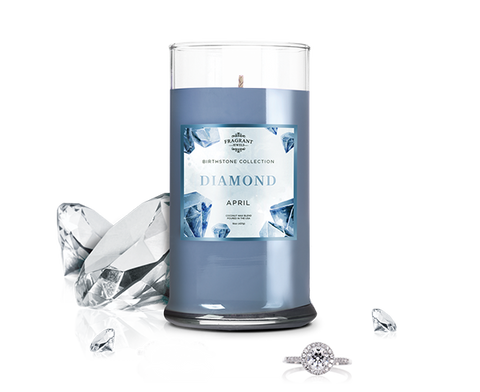 April Birthstone: Diamond Jewel Candle