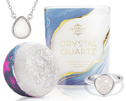 Crystal Quartz - Candle and Bath Bomb Set - Inner Circle