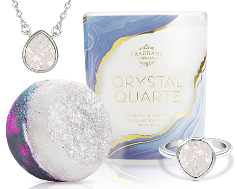 Crystal Quartz - Candle and Bath Bomb Set