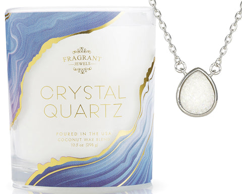 Crystal Quartz - Jewel Candle
