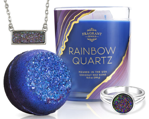 Rainbow Quartz - Candle and Bath Bomb Set
