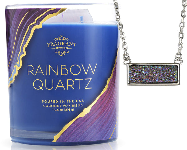 Rainbow Candle with Glittery Necklace